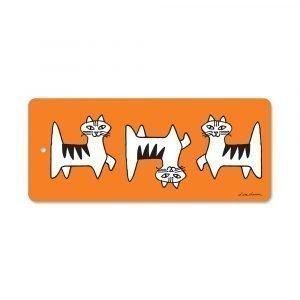 Opto Design Cat Felix Leikkuulauta Oranssi 40x17 Cm