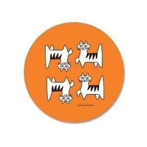 Opto Design Cat Felix Pannunalunen Oranssi 21 Cm