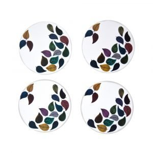Opto Design Dancing Leaves Lasinalunen 4-Pakkaus