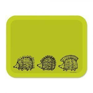 Opto Design Iggy Piggy Punky Tarjotin Vihreä 43x33 Cm