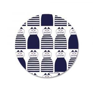 Opto Design Mimi Pannunalunen Sininen / Valkoinen 21 Cm
