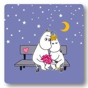 Opto Design Moomin Evening Love Alunen Violetti