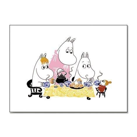 Opto Design Moomin Teaparty Pöytätabletti Valkoinen
