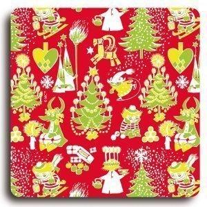 Opto Design Muumi Lasinalunen Christmas Pattern