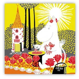 Opto Design Muumi Sunshine Lasinalunen Keltainen 9x9 Cm 4 Kpl
