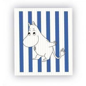 Opto Design Muumi Tiskirätti Moomin Stripe Sininen