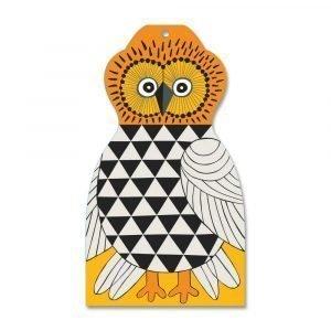 Opto Design Owl Leikkuulauta Harmaa / Keltainen 30x17 Cm