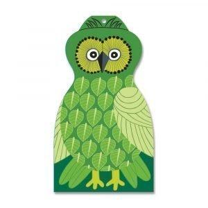 Opto Design Owl Leikkuulauta Vihreä 30x17 Cm