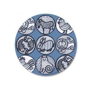 Opto Design Pattern Nina Pannunalunen Sininen 21 Cm