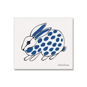 Opto Design Rabbit Dotty Tiskirätti Sininen / Musta