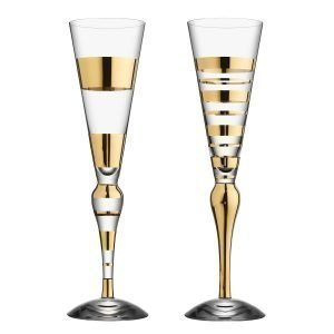 Orrefors Clown Glas 2 Pack Guld