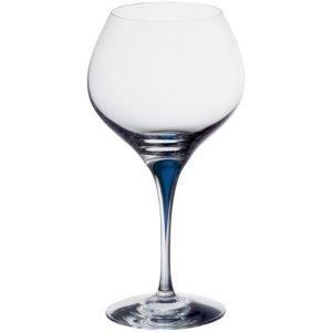 Orrefors Intermezzo Sininen Bouquet Viininmaistelulasi