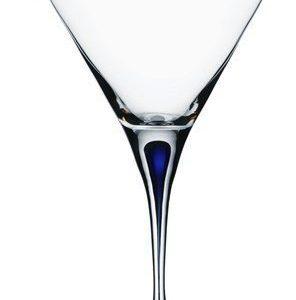 Orrefors Intermezzo sininen Martini 21 cl