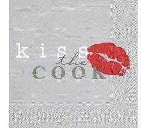 Paperiservetti Kiss the cook 20kpl 33cm x 33cm