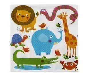 Paperiservetti My zoo 20kpl 33cm x 33cm