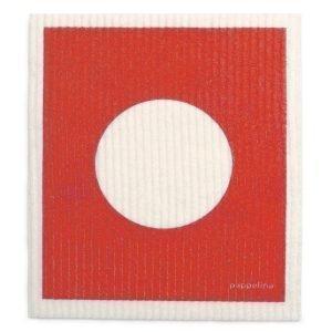 Pappelina Vera Tiskirätti Red 17x20 Cm 2-Pakkaus