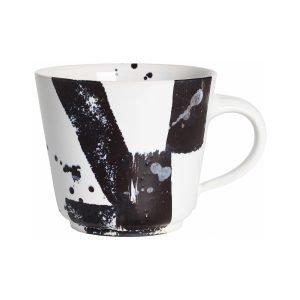 Paradisverkstaden Abstraktion Kahvikuppi Valkoinen / Musta