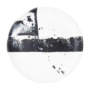 Paradisverkstaden Abstraktion Lautanen Valkoinen / Musta