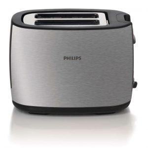 Philips Hd2628 / 20 Leivänpaahdin 2 Viipaletta Ruostumaton Teräs Hopea