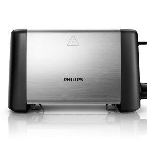 Philips Hd4825 / 90 Leivänpaahdin 2 Viipaletta Metalli Hopea