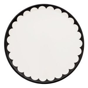 Pia Wallén Capes & Cake Tarjotin Valkoinen / Musta 38ø Cm