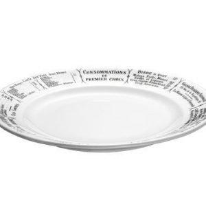 Pillivuyt Brasserie Lautanen valkomusta Ø 24 cm