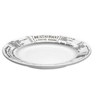 Pillivuyt Brasserie Lautanen valkomusta 20 cm