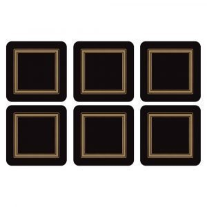 Pimpernel Classic Black Lasinalunen 6-Pakkaus