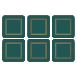 Pimpernel Classic Emerald Lasinalunen 6-Pakkaus