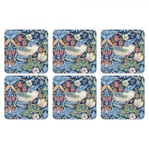 Pimpernel Strawberry Thief Blue Lasinalunen 6-Pakkaus