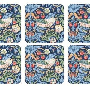Pimpernel Strawberry Thief Lasinalunen Korkki Sininen 6 Kpl