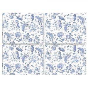 Portmeirion Botanic Blue Pöytätabletti 4-Pakkaus