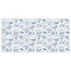 Portmeirion Botanic Blue Pöytätabletti 6-Pakkaus