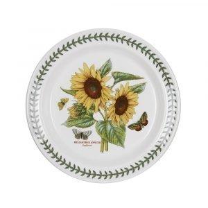 Portmeirion Botanic Garden Lautanen Sunflower Valkoinen 25 Cm