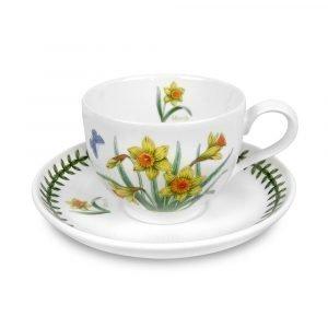 Portmeirion Botanic Garden Teekuppi Ja Aluslautanen Maaliskuu