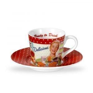 Portmeirion Vintage Kelloggs Espressokuppi Ja Asetti 8 Cl