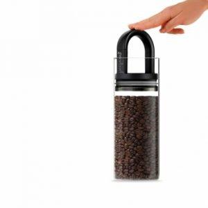 Prepara Evak Vakuumipurkki Mustalla Kahvalla Lasi 1360 Ml