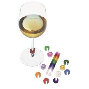 Pulltex Värimerkit Viinilaseille Monivärinen 10 Kpl