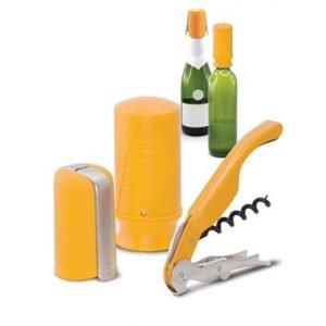 Pulltex Viini & Samppanjasetti Keltainen 3-Osainen