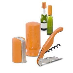 Pulltex Viini & Samppanjasetti Oranssi 3-Osainen
