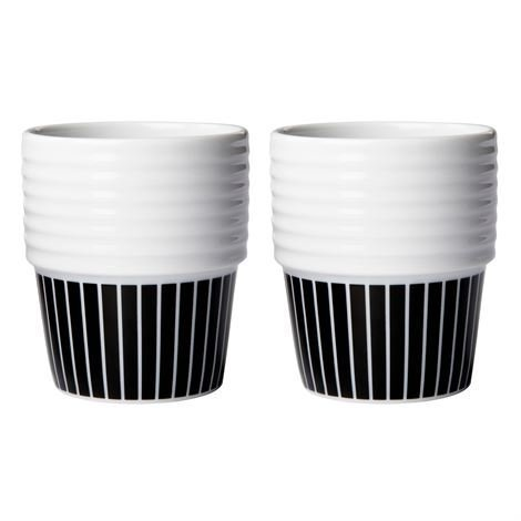 Rörstrand Filippa K Espressomuki 2 kpl Liituraita-Musta