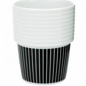 Rörstrand Filippa K Kahvi-/teemuki 2pack 31 cl Pinstripes/musta