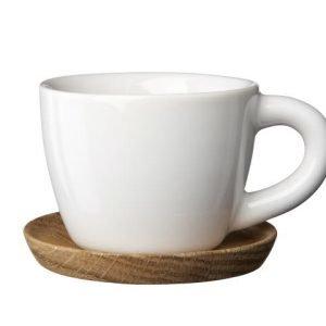 Rörstrand Höganäs Espressokuppi Ja Aluslautanen Valkoinen 10 Cl