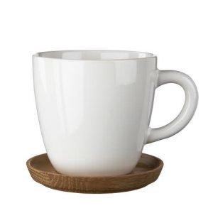 Rörstrand Höganäs Kahvimuki Ja Aluslautanen Valkoinen 33 Cl