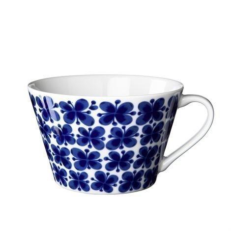Rörstrand Mon Amie Teekuppi Sininen-Valkoinen