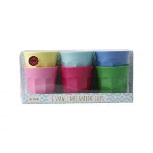 Rice Classic Colors Muki Melamiini 7.5 Cm 6 Kpl