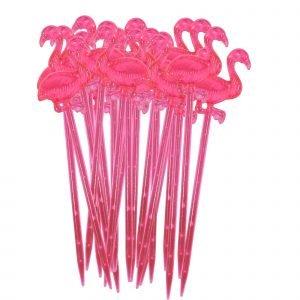 Rice Cocktailtikut Flamingo Vaaleanpunainen 20 Kpl