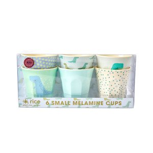 Rice Dino Print Muki Melamiini 7.50 Cm 6 Kpl