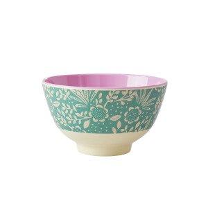Rice Fern And Flower Print Kulho Melamiini 11 Cm