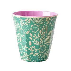 Rice Fern And Flower Print Muki Melamiini 9 Cm